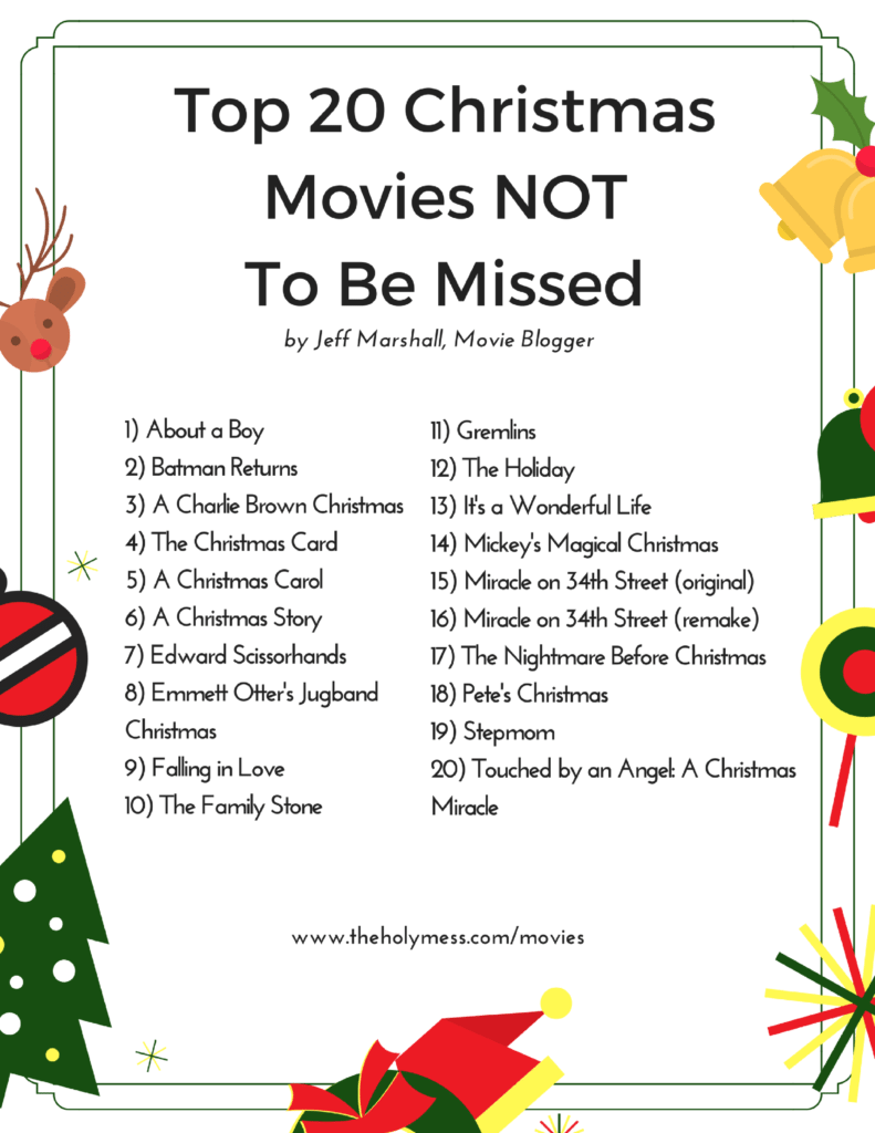 Top 20 Christmas Movies NOT To Be Missed|The Holy Mess