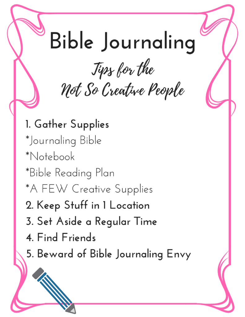 Bible Journaling: Tips for the Not So Creative People|The Holy Mess