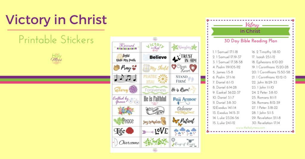 Victory in Christ Stickers and Bible Reading Plan