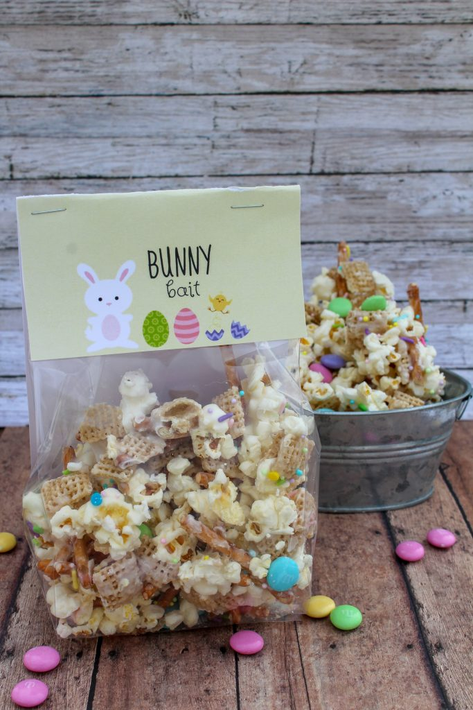 Bunny Bait White Chocolate Snack Mix with Free Printable Gift Tags