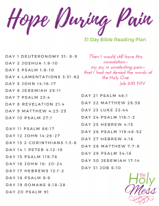 Hope During Pain Bible Reading Plan